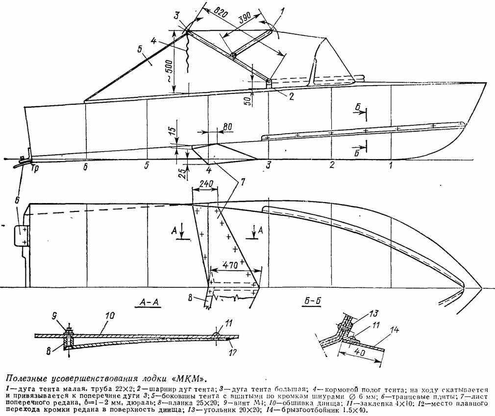 Схема лодки МКМ
