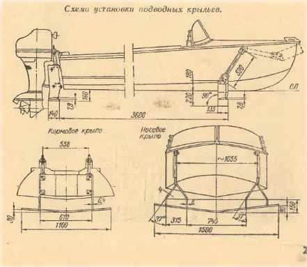 Установка подводных крыльев