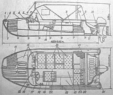 Схематический чертеж Казанка 5м2