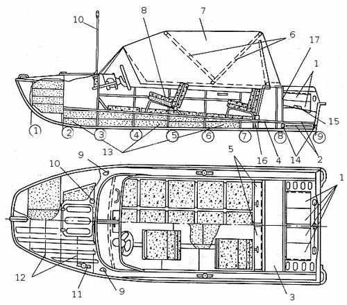 Схематический чертеж Казанка 5м