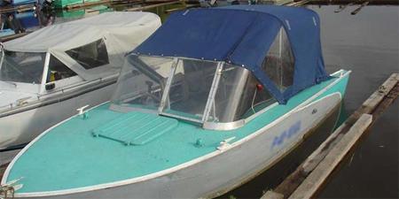 Тент на лодке «Прогресс-4» title=