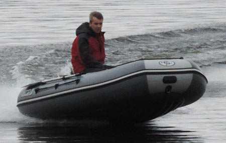 Глиссирование надувной лодки «CompAs 350»