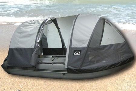Надувная ПВХ лодка «Кайман 360» с тентом-палаткой