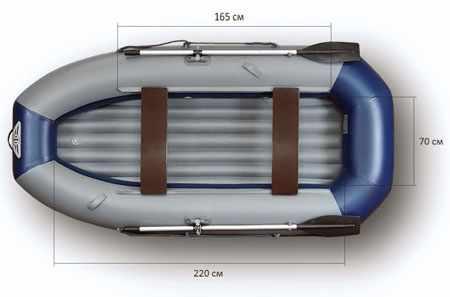 Компоновка и размеры ПВХ лодки «Флагман 300 H»