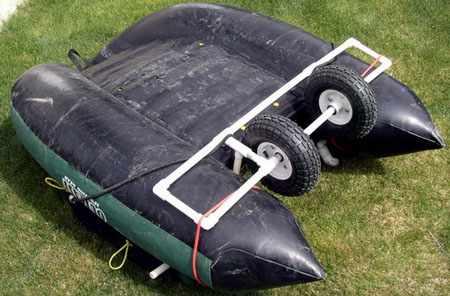 Рамка для колес из водопроводных ПВХ труб