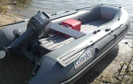 Надувная ПВХ лодка «CompAs 350» с мотором
