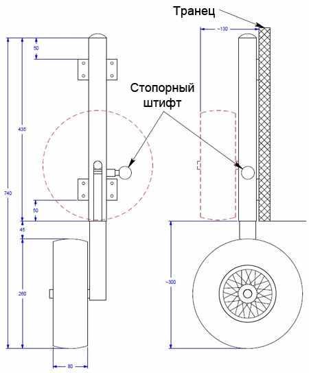 Схема складываемых колес для лодки