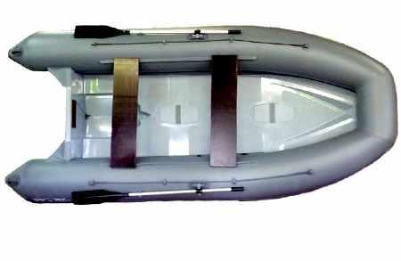 Компоновка модификации РИБа Winboat 375R Luxe с рундуками