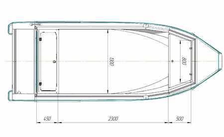 Размеры кокпита лодки «Беркут S»