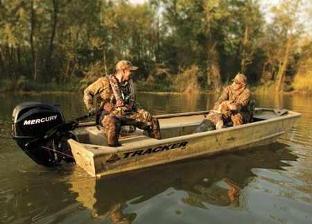 Охотничья лодка для длительных переездов по воде