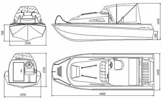 Лодка «Казанка 5м4» в исполнении с каютой