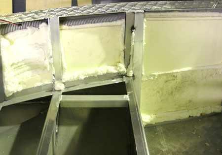 Блоки плавучести на лодке ЛКМ 510