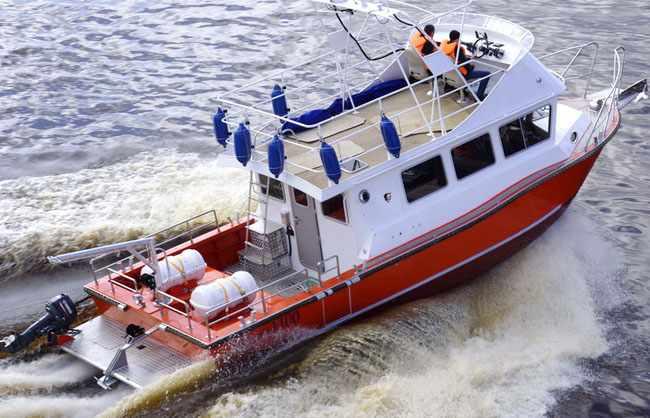 Компоновка катера «Баренц 1100»