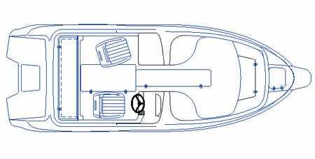 Компоновка лодки Стрингер 510