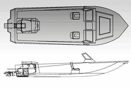 Компоновка катера Ка-Хем 730