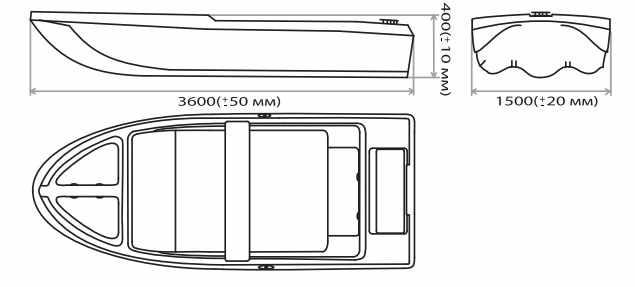 Схема лодки Laker 360