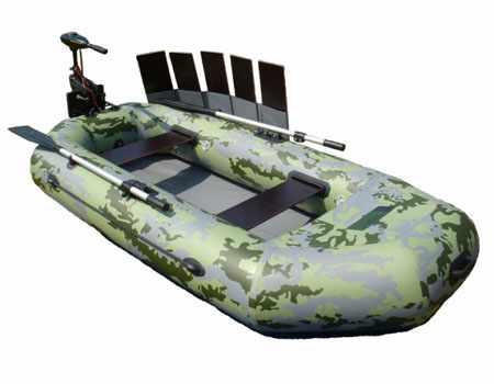 Лодка «Двина 22» с навесным транцем и реечным настилом