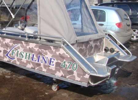 Корма лодки Фишлайн 470