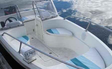 Носовой кокпит лодки Стрингер 480