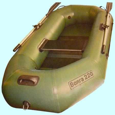 Надувная ПВХ лодка «Волга 220» с реечным настилом