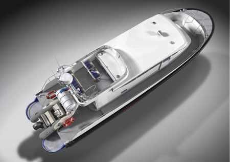 Компоновка катера «Laky Verf 13M»