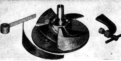 Горка для изготовления винта водомета катера Циклон