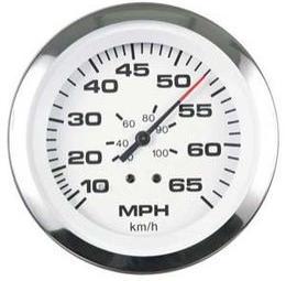 Показания скорости моторной лодки спидометром