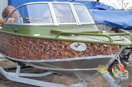 Капотная модификация лодки «Windboat 48»