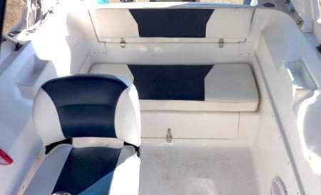 Кокпит лодки РИБ «SkyBoat 520RT»