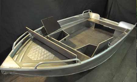 Лодка «Абрис 400» с дополнительными рундуками