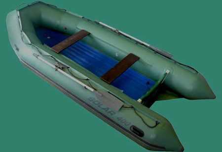 Палуба надувной лодки «Солар 400»