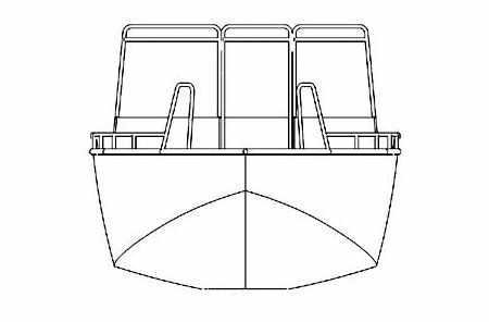 Форма днища лодки «Аллюр 51»