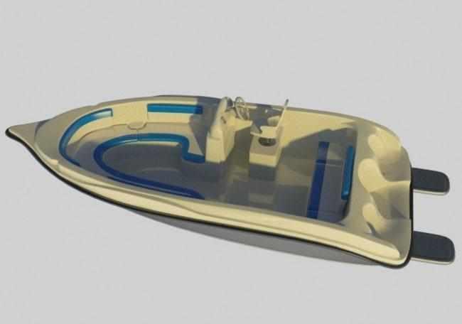 Лодка «Akvilon 450» с открытым кокпитом