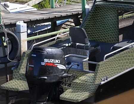 Компоновка кормовой части лодки «Абрис Кайман L»