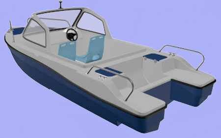 Конструкция лодки «Селенга 450»