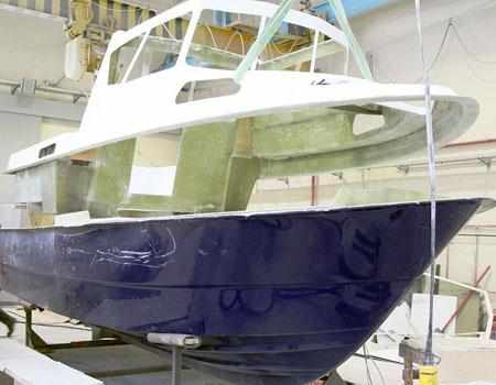 Конструкция корпуса катера «Vympel 7000»