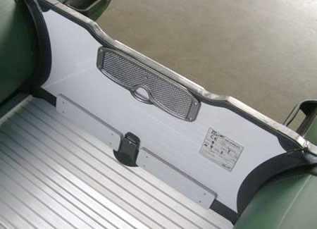 Транец и палуба надувной ПВХ лодки «Vector XHD 290»