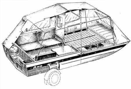 Схема лодки Дон