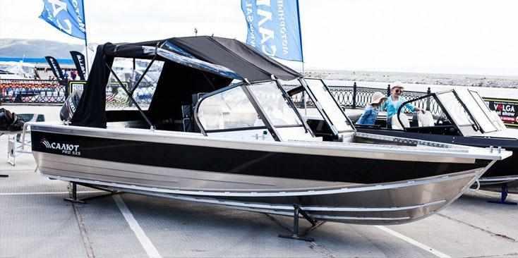 Остекление лодки Салют PRO 525