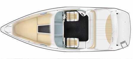 Компоновка катера «Velvette 22 Image»