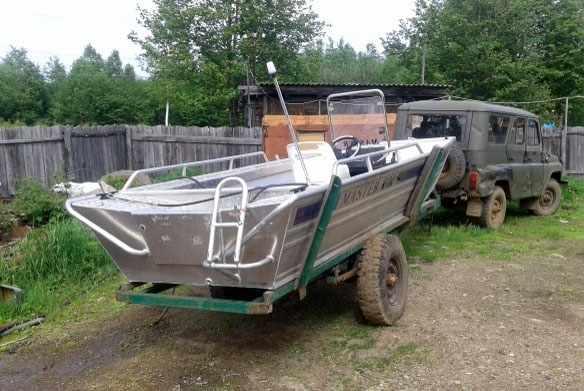 Корма лодки «Мастер 600»