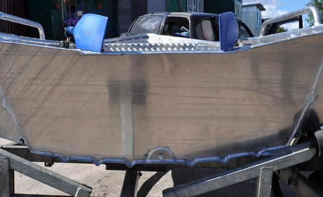 Корма лодки «Абрис 350»