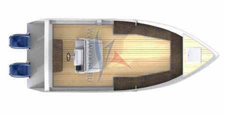Моторная лодка «Охта 21 SCC»