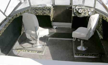 Компоновка основного кокпита лодки Vortex 510