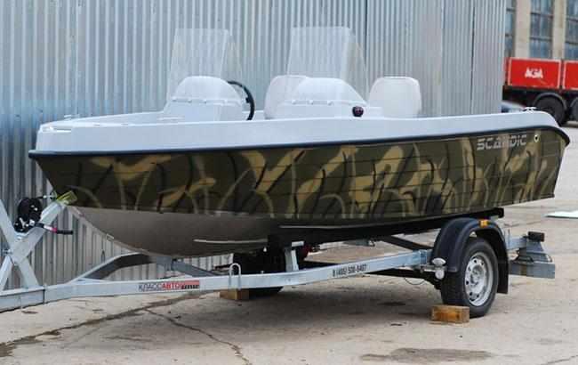 Корпус лодки «SCANDIC Havet 480 AL» в цвете камуфляж