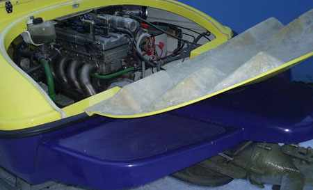 Вариант лодки ТриМарин 500 Jet с водометной установкой и стационарным двигателем