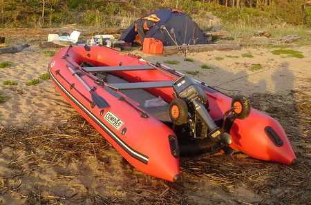Надувная лодка «КомпАс 450» в сборе