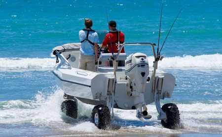 Самостоятельное слипование на пляже амфибии Sealegs 6.1
