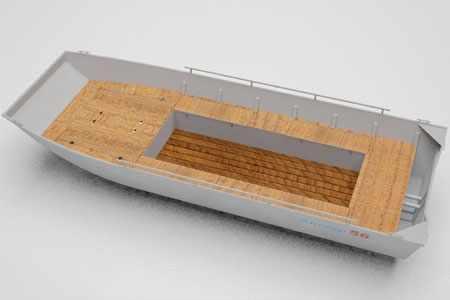 Вариант компоновки лодки «Аллюр 56 Джонбот»