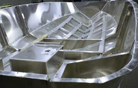 Конструкция корпуса катера Аквилон 550